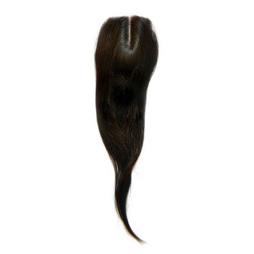 Top closure de cheveux vierges 100% naturels implantés sur tulle de soie