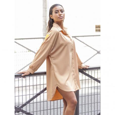 Tunique chemise Blabla - Pêche